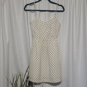J. Crew PolkaDotted Spaghetti Strap Dress